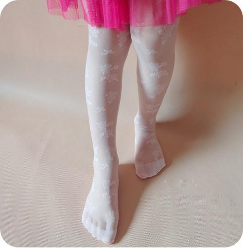 975eae3bbae3 White Girls Wedding Elegant Stockings Tights Leggings Pantyhose ...